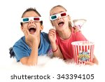 children's couple with 3d...   Shutterstock . vector #343394105
