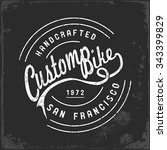 vintage motorbike race   hand... | Shutterstock .eps vector #343399829