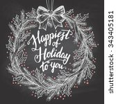 happiest of holiday to you.... | Shutterstock .eps vector #343405181
