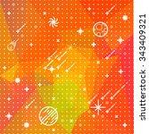 seamless vector space pattern.... | Shutterstock .eps vector #343409321
