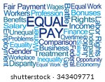 equal pay word cloud on white... | Shutterstock . vector #343409771
