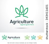 agriculture logo template... | Shutterstock .eps vector #343411601