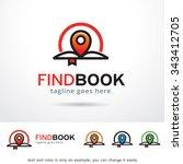 find book locator logo template ... | Shutterstock .eps vector #343412705