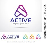 active letter a logo template... | Shutterstock .eps vector #343412915