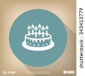 pictograph of cake | Shutterstock .eps vector #343413779