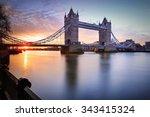 London Tower Bridge And Thames...