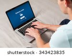 delivery order tracking... | Shutterstock . vector #343423835
