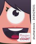 monster face vector illustration | Shutterstock .eps vector #343429031