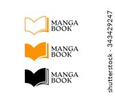 elegant logo with book symbol. | Shutterstock .eps vector #343429247