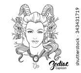 zodiac. illustration of... | Shutterstock . vector #343431719