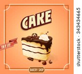 cake banner for bakery shop | Shutterstock .eps vector #343434665