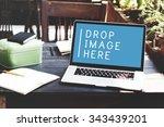 laptop working technology... | Shutterstock . vector #343439201
