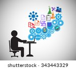 software developer or... | Shutterstock .eps vector #343443329