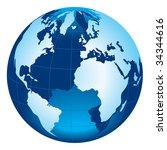 globe of the world | Shutterstock .eps vector #34344616