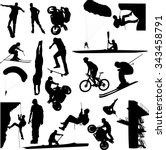 extreme sport collection  ... | Shutterstock .eps vector #343458791