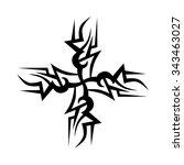 tattoo tribal vector design...   Shutterstock .eps vector #343463027