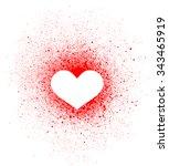 graffiti heart spray design... | Shutterstock .eps vector #343465919