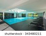 indoor swimming pool of a... | Shutterstock . vector #343480211