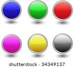 shiny buttons. internet | Shutterstock .eps vector #34349137