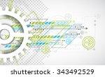 abstract technology gears... | Shutterstock .eps vector #343492529
