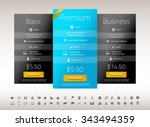 modern pricing list with one... | Shutterstock .eps vector #343494359