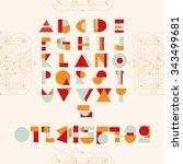 typographic alphabet. contains... | Shutterstock .eps vector #343499681