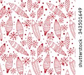 seamless pattern with christmas ... | Shutterstock .eps vector #343501649