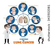lung cancer symptoms sick man... | Shutterstock .eps vector #343502081