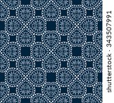 Blue Seamless Pattern. Design...