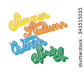 handwritten seasons of the year ...   Shutterstock .eps vector #343515035