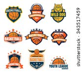 basketball logotype collection  ... | Shutterstock .eps vector #343517459