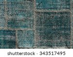 asian patchwork carpet in... | Shutterstock . vector #343517495