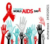 1st december world aids day... | Shutterstock .eps vector #343520021