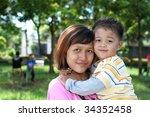 single parent | Shutterstock . vector #34352458