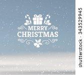 vector christmas greeting card   Shutterstock .eps vector #343529945