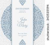 elegant save the date card.... | Shutterstock .eps vector #343535594