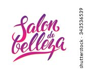 logo beauty salon lettering.... | Shutterstock .eps vector #343536539