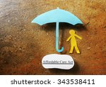paper person under affordable... | Shutterstock . vector #343538411