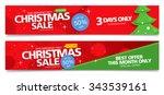 christmas sale. vector banner | Shutterstock .eps vector #343539161