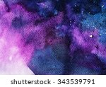 abstract watercolor art hand... | Shutterstock . vector #343539791