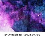 abstract watercolor art hand... | Shutterstock . vector #343539791