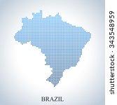 map of brazil | Shutterstock .eps vector #343548959