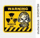 warning   radiation risk | Shutterstock .eps vector #343549784