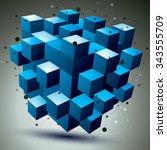 contemporary technology... | Shutterstock .eps vector #343555709