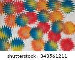festive bright abstract pattern ... | Shutterstock . vector #343561211