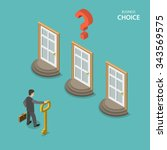 business choice isometric flat... | Shutterstock .eps vector #343569575