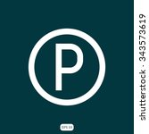 parking icon  | Shutterstock .eps vector #343573619