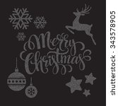 christmas dots elements.... | Shutterstock . vector #343578905
