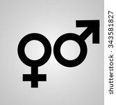 sex symbol   Shutterstock .eps vector #343581827