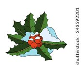 Christmas Holly Berry With...